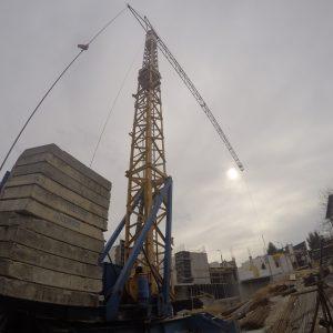 żuraw budowlany
